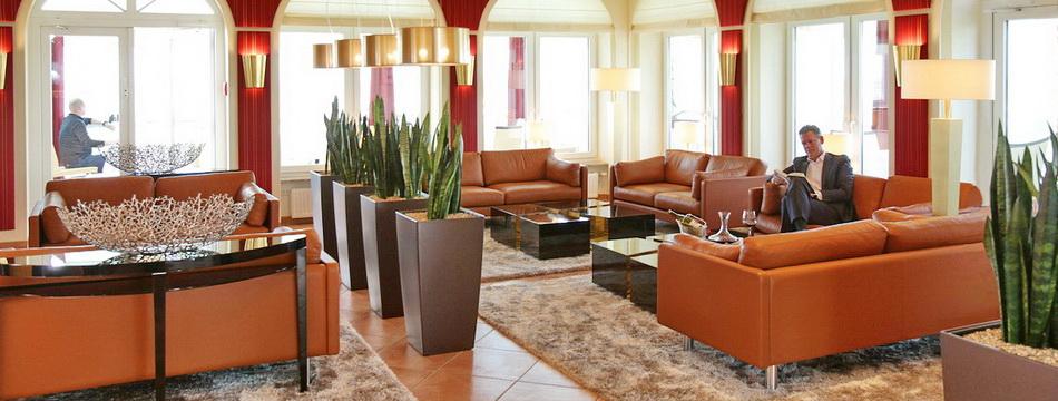 Lounge Wintergarten Upstalsboom Hotel Deichgraf Wremen